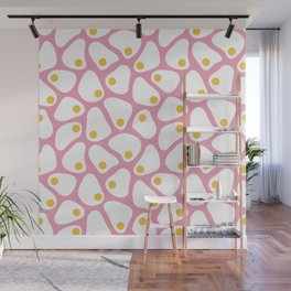 Fried Egg Pattern Wall Mural