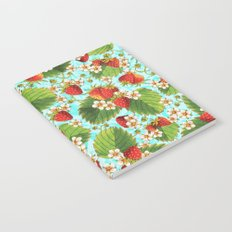 Botanical Strawberries Notebook