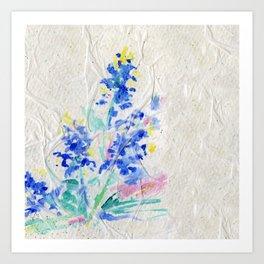 Blue Bonnets by Kathy Morton Stanion Art Print