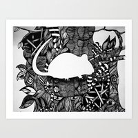 rat Art Prints featuring Rat by Mindy Robinson