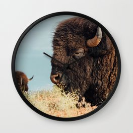 American Bison II Wall Clock