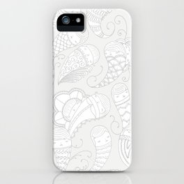 Ghostly Paisley: Dust to Dust iPhone Case