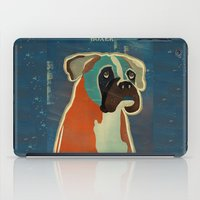 boxer iPad Cases featuring the boxer by bri.b