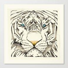 The White Tiger Canvas Print