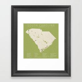 South Carolina Golf Courses Framed Art Print