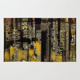 The City Of Many Dimensions Abstract Cityscape Rug