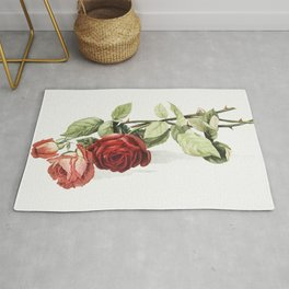 Roses from The Miriam and Ira D Wallach Division Of Art Prints and Photographs Picture Collection Rug