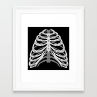 winchester Framed Art Prints featuring Winchester Bones by Lisa Buchfink