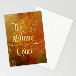 The Autumn Court Stationery Cards