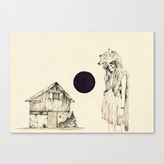 Mujer Loba Canvas Print