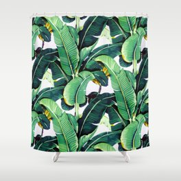 Tropical Banana leaves pattern Shower Curtain