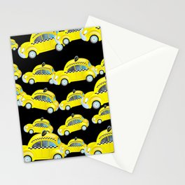 Yellow Taxi Cab Stationery Cards