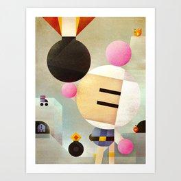 Bomberman remixed Art Print