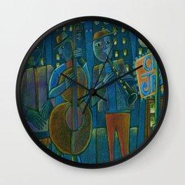 Jazz Time Late Night Jam Wall Clock