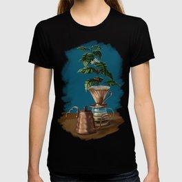 V60 Pour Over Coffee Plant T-shirt