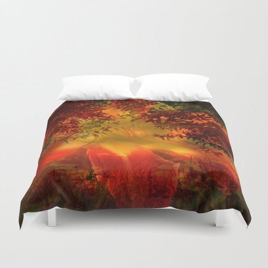 Daydreams on the edge of nature Duvet Cover