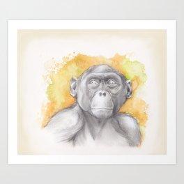 Bonobo Watercolour Art Print