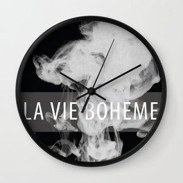 La Vie Boheme Wall Clock