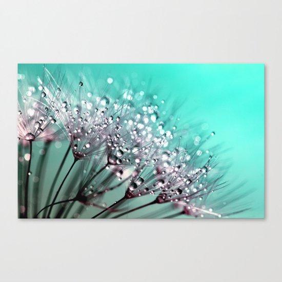 dandelion, mint, turquoise Canvas Print