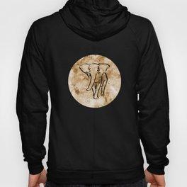 Marble Rose Gold Elephant Round Background Hoody