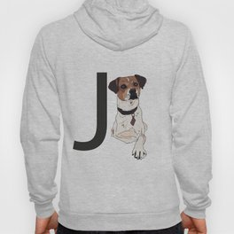J is for Jack Russell Terrier Dog Hoody