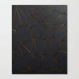 Golden Seams Canvas Print