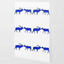 Graphic Kissing Swedish Elk Wallpaper