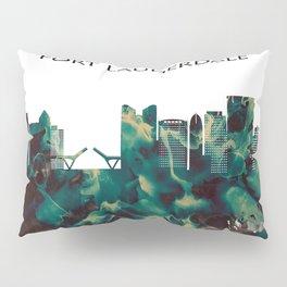 Fort Lauderdale Skyline Pillow Sham
