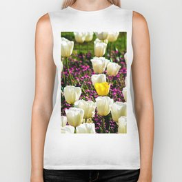 Lonely Yellow Tulip Biker Tank