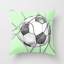 Goal in green Throw Pillow