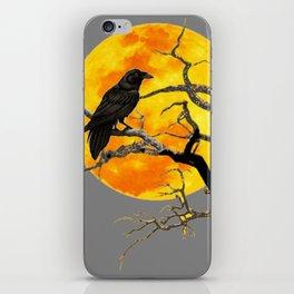 FULL MOON & RAVEN ON DEAD TREE iPhone Skin