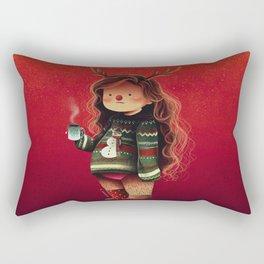 lazy holidays Rectangular Pillow