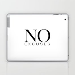 No Excuses, Printable Wall Art, Fitness Sign, Motivational Print, Gift Idea Laptop & iPad Skin