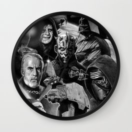 Dark Side StarWars Darth Vader Darth Maul Sith Storm Trooper kylo Dooku Sidious Wall Clock