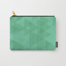 Light lime triangles in intersection and overlay. Carry-All Pouch