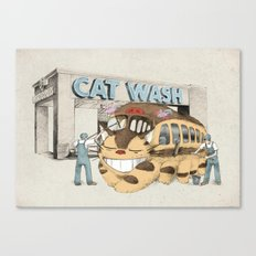 Cat Wash Canvas Print