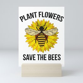 Plant flowers for beekeeper and nature lover Mini Art Print