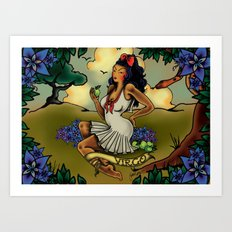 Tattoo Virgo Art Print