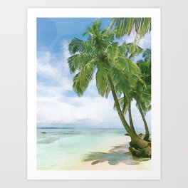Watercolor Beach #beach #watercolor #society6 Art Print