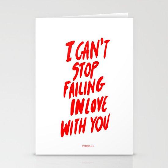 Failing Stationery Cards