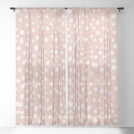 LEOPARD PINK Sheer Curtain