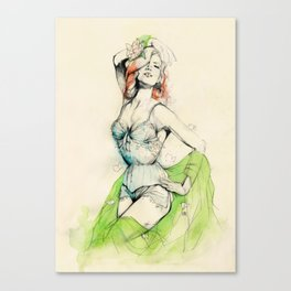 Burlesque 01 Canvas Print