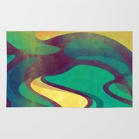 waves Area & Throw Rugs featuring Waves by VessDSign