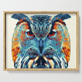 Owl - Colorful Animals Serving Tray