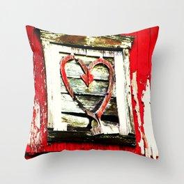 Barn Heart Throw Pillow