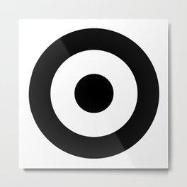 Black & White Mod Target Metal Print