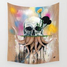 Skull Roots Wall Tapestry