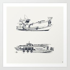 On paper: Capote y Picaflor Art Print