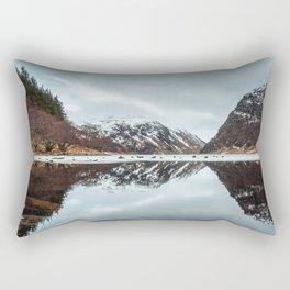 Reflected Mountain Rectangular Pillow