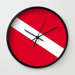 Diver Flag Wall Clock